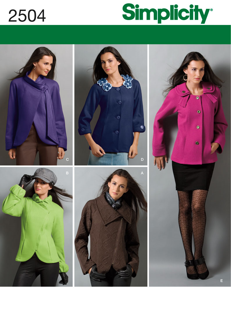 Simplicity Misses Jackets 2504