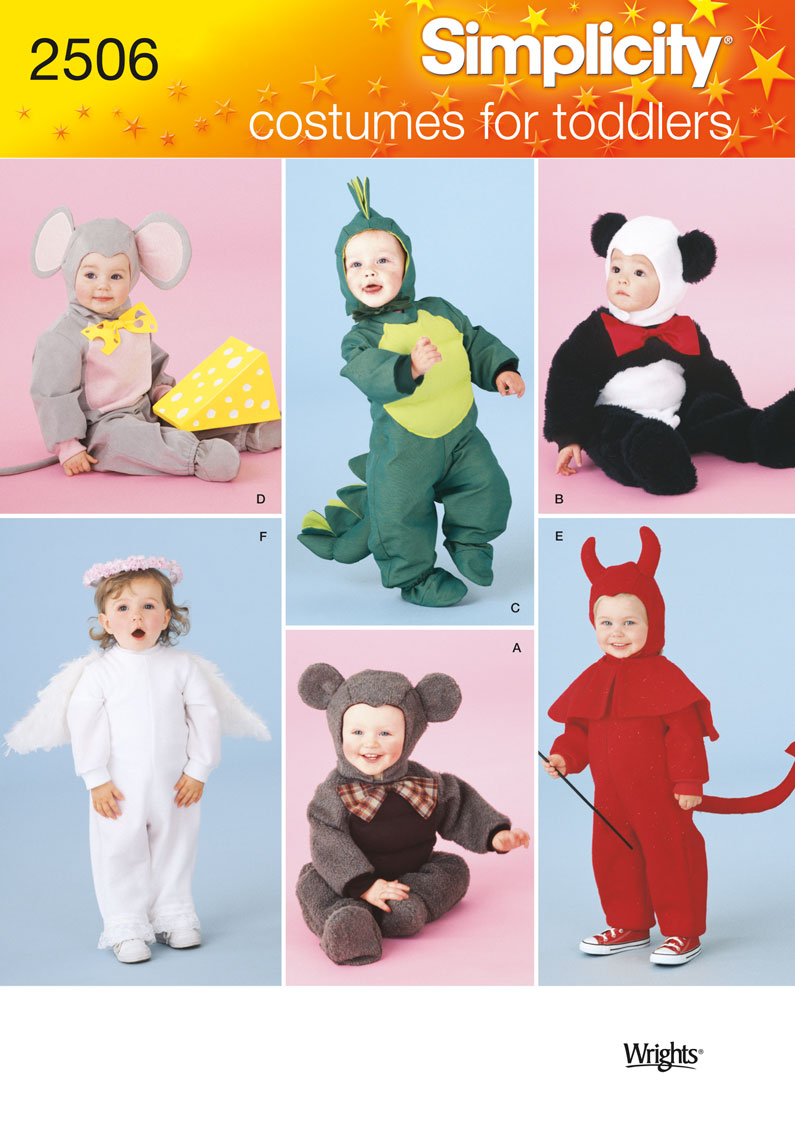 Simplicity Toddler Costumes 2506