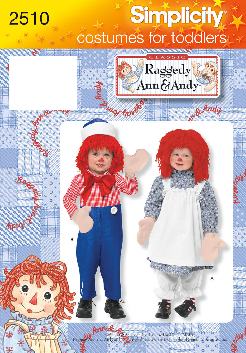 Simplicity Toddler Costumes 2510