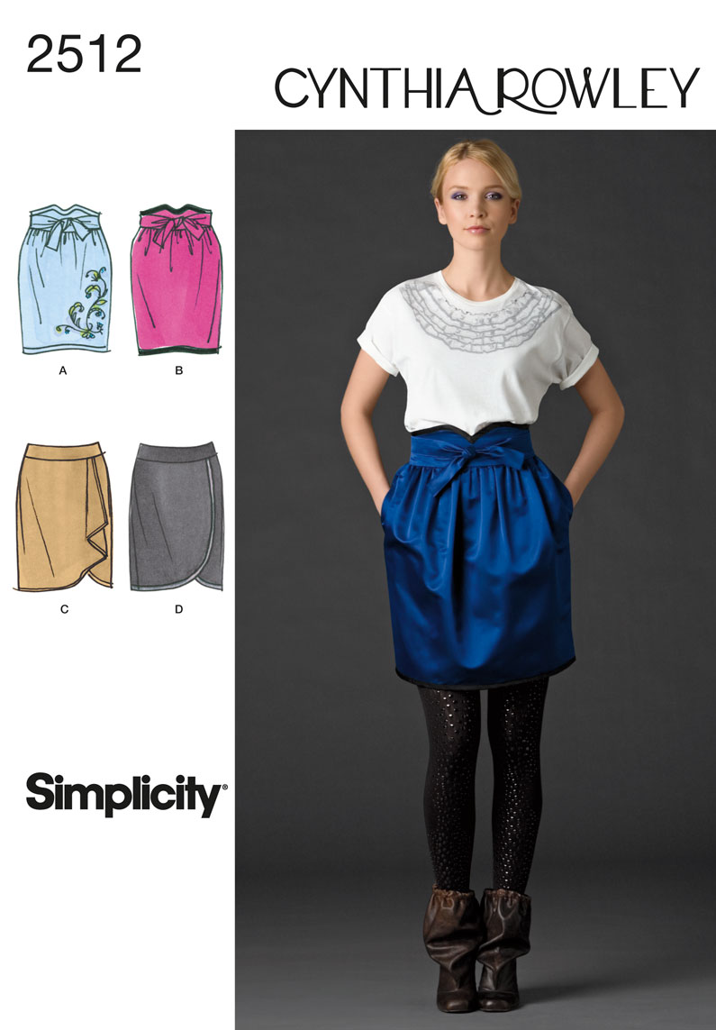 Simplicity Misses Skirts 2512