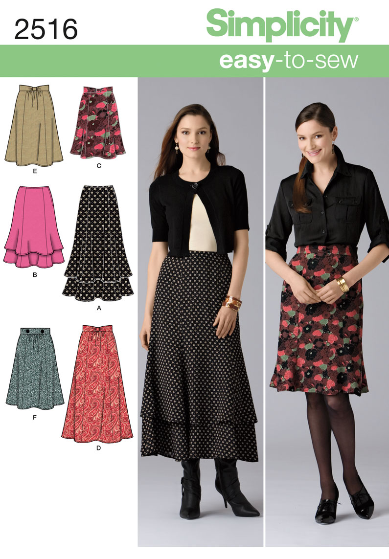 Simplicity Misses Skirts 2516