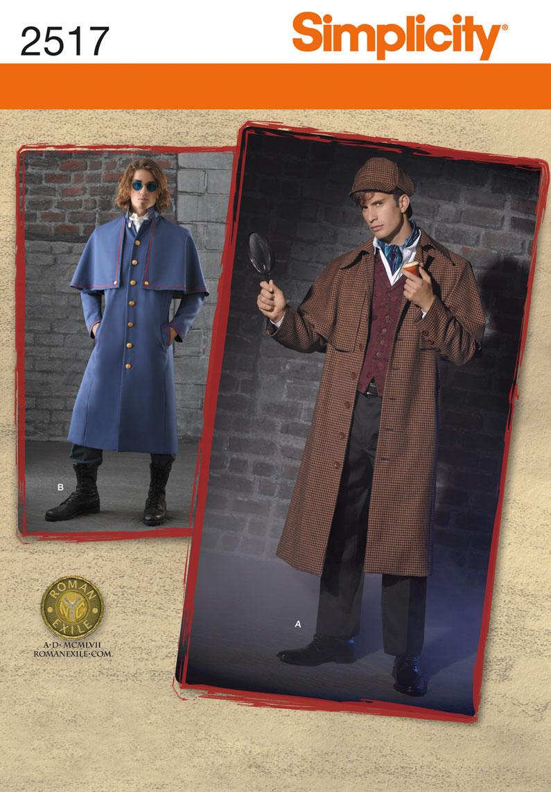 Simplicity Men's Costumes 2517