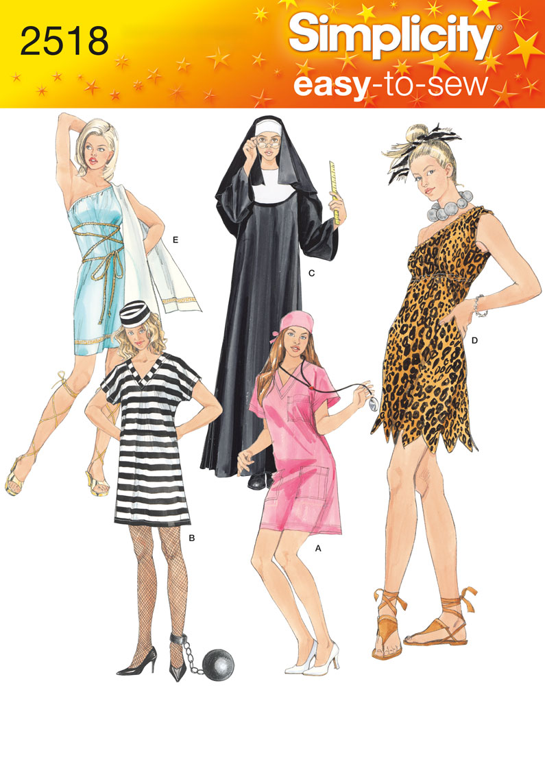 Simplicity Misses Costumes 2518