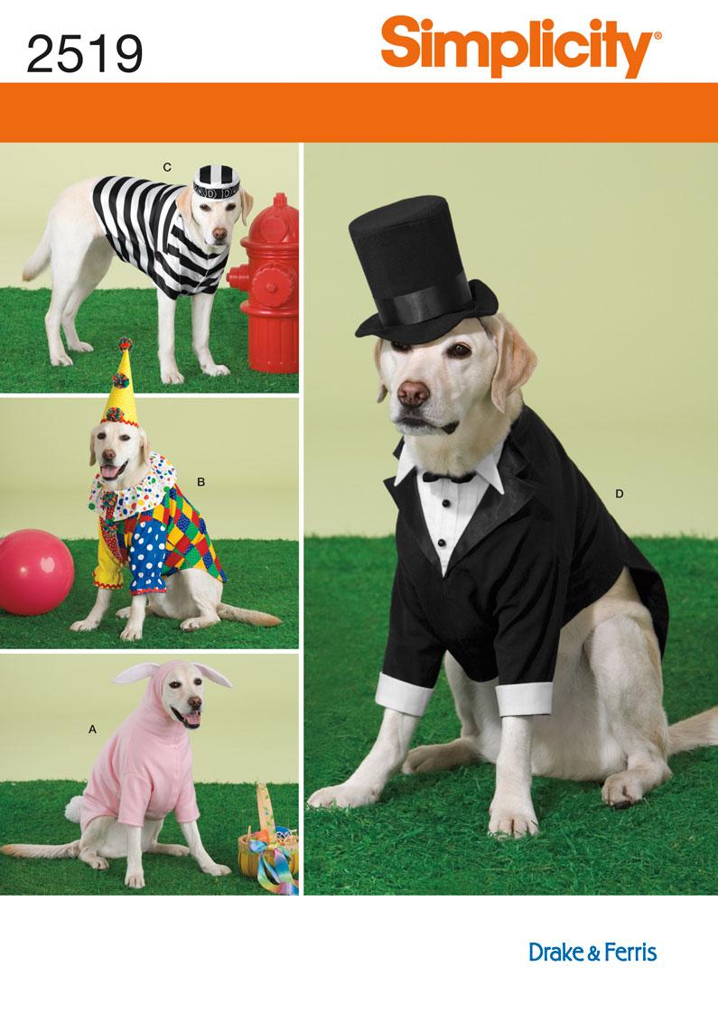 Simplicity Pet Costumes 2519
