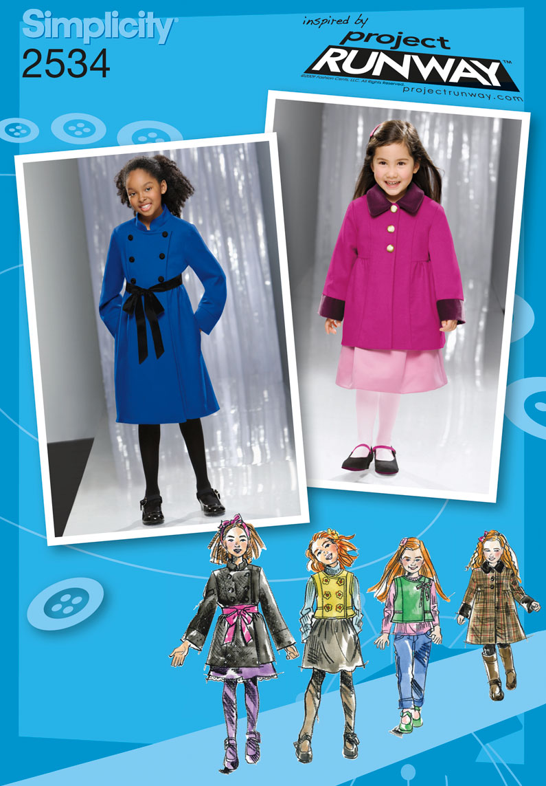 Simplicity Child & Girl Jackets & Coats 2534