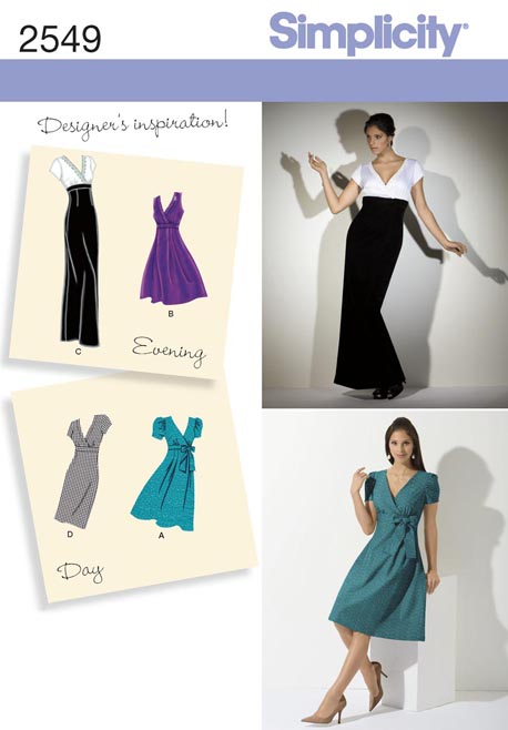 Simplicity Misses Day or Evening Dresses 2549