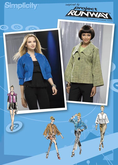 Simplicity Misses Jackets:Project Runway Collection 2558