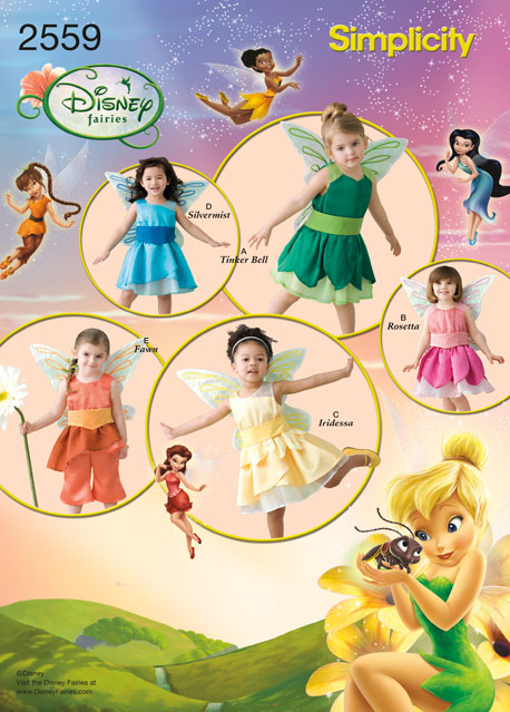 Simplicity Toddler Costumes Disney Fairies Collection 2559