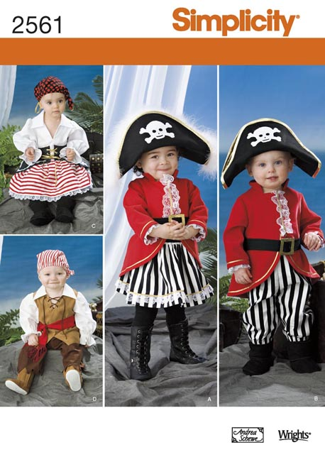 Simplicity Toddler Costumes & Hats..In Three Sizes 2561