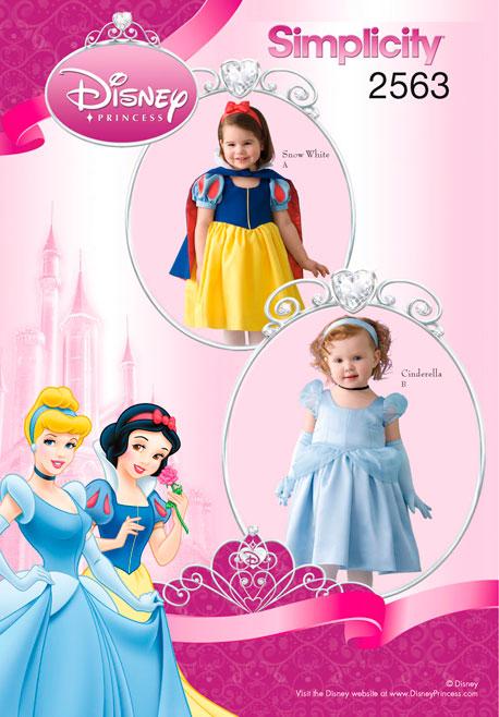 Simplicity Toddler Costumes Disney Princess Collection 2563