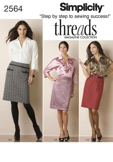 Simplicity Misses Skirt & Blouse Threads Collection 2564