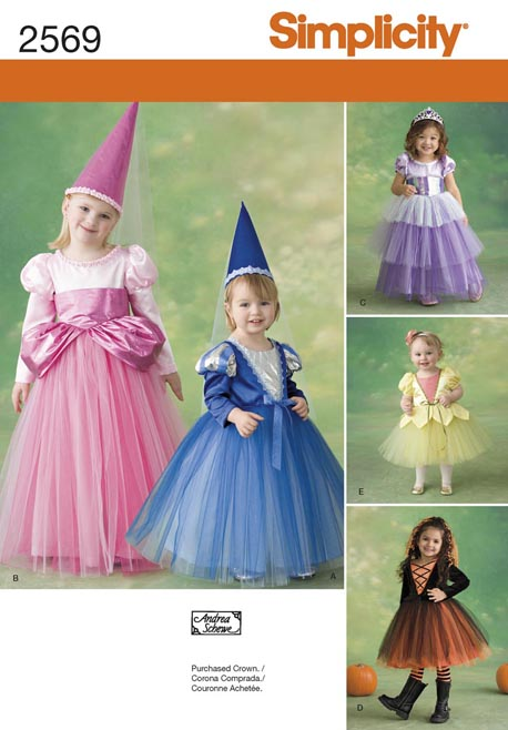 Simplicity Toddler or Child Costumes 2569