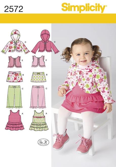 Simplicity Babies Jumper, Skirt, Pants Hoodie & vest 2572