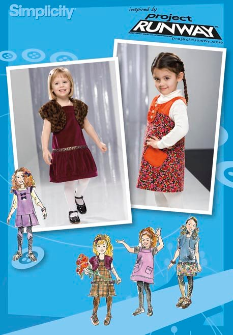 Simplicity Toddler or Child Jumper, Skirt & Lined Shrug Project Runway Collection 2574