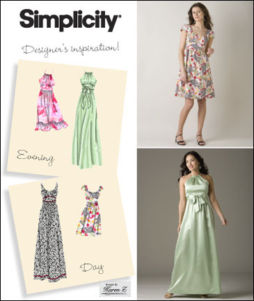 Simplicity Misses Dress and Gown 2579