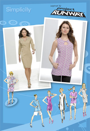 Simplicity Misses and Miss Petite Dress or Tunic Project Runway Collection 2583