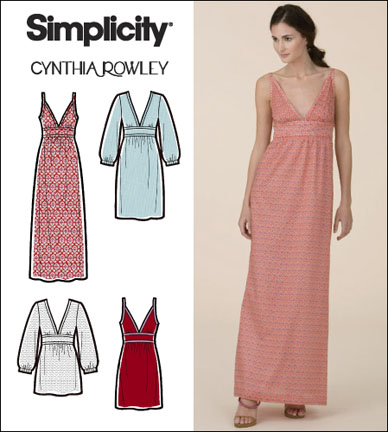 Simplicity Misses Dress & Gown Cynthia Rowley Collection 2587