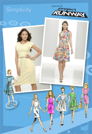 Simplicity Misses and Miss Petite Dresses Project Runway Collection 2588