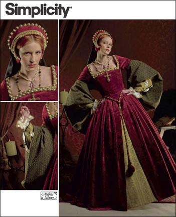 Simplicity Misses Tudor Costume 2589