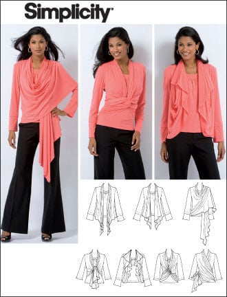 Simplicity Misses Knit Top and Cardi-Wrap 2603