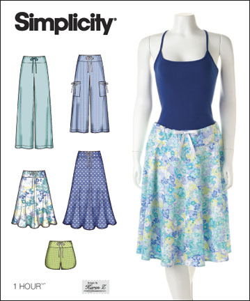 Simplicity Misses 1 Hour Pants, Shorts or Skirts 2611