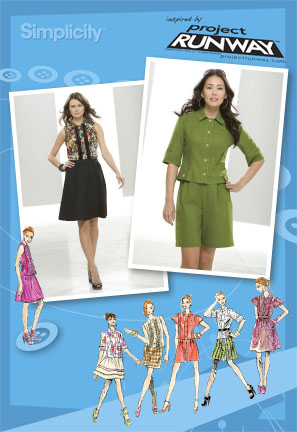 Simplicity Misses Tops, Skirt and Shorts Project Runway Collection 2612