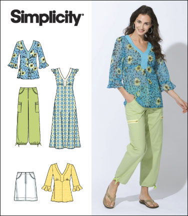 Simplicity Misses Dress, Top, Pants and Skirt 2619