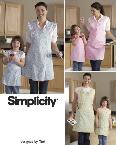 Simplicity Misses and Child Aprons 2626
