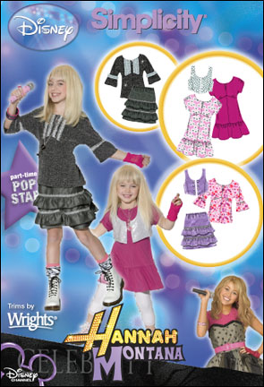 Simplicity Child or Girl Dress-up: Disney's Hannah Montana Collection 2630