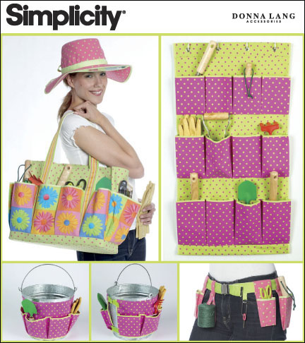 Simplicity Garden Accessories: Tote, Caddy, Belt and Hat 2632