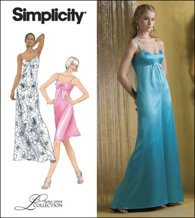 Simplicity Misses Dress or Gown Laura Lynn Collection 2640