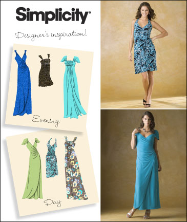 Simplicity Misses Knit Dress or Gown 2647
