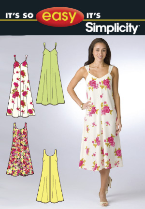 Simplicity Misses' Dress in Two Lengths 2649