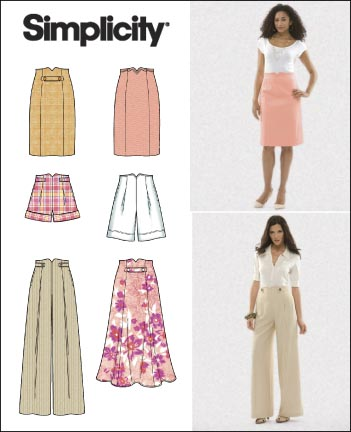 Simplicity Misses Skirts, Pants and Shorts 2654