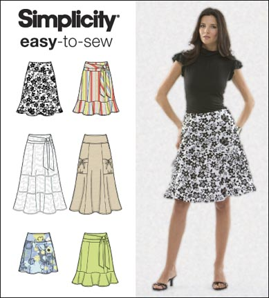 Simplicity Misses Skirts 2655