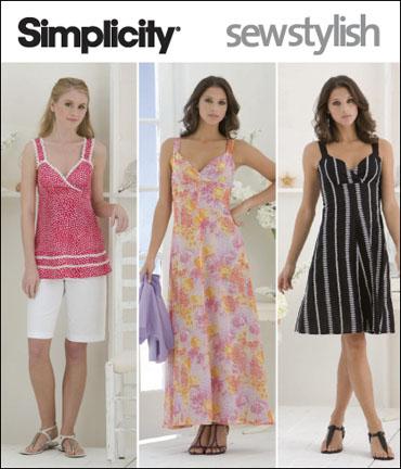 Simplicity Misses & Miss Petite Dress, Tunic, Shorts & Knit Bolero Sew Stylish Collection 2657