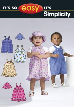 Simplicity Babies' Jumper, Romper & Hat 2672