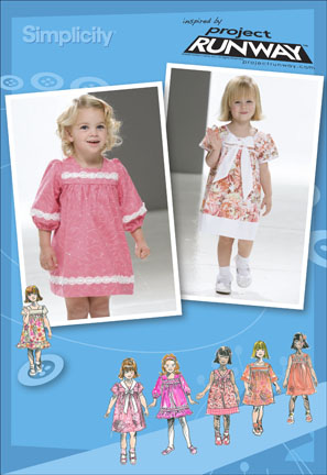Simplicity Toddler Dresses Project Runway Collection 2674
