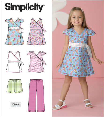Simplicity Child Dress, Top, Pants and Shorts 2677