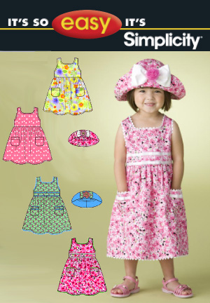 Simplicity Toddlers' Dress & Hat 2678