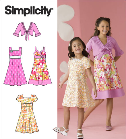 Simplicity Child/Girl Dresses 2683