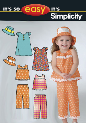Simplicity Toddler's Dress, Top, Pants & Hat 2684