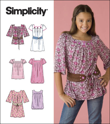 Simplicity Girls & Girls Plus Tops 2689