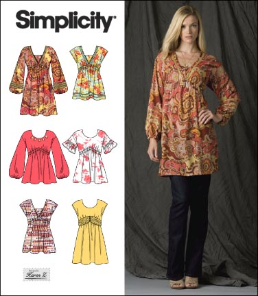 Simplicity Misses Pullover Mini Dress or Tunic 2690