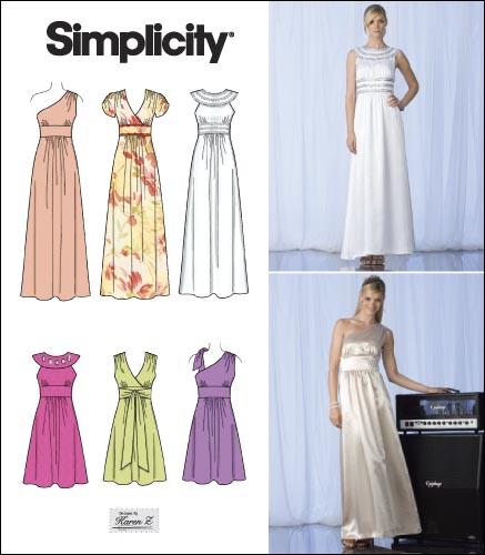 Evening Dresses Patterns Simplicity - Formal Dresses