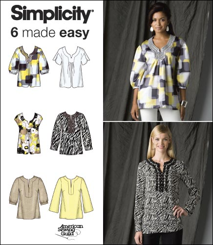 Simplicity Misses Pullover Tunics 2696