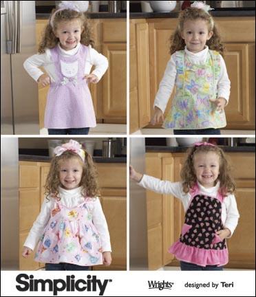 Simplicity Toddler Aprons 2699