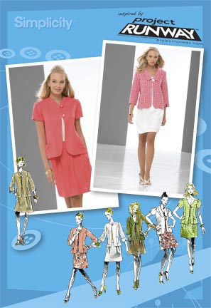Simplicity Misses Jacket and Skirt: Project Runway Collection 2701