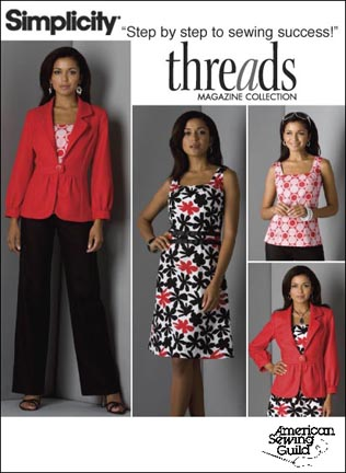 Simplicity Misses Jacket, Pants, Dress & Top: Threads Collection 2703