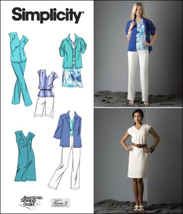 Simplicity Misses or Plus Size Dress, Top, Pants, Shorts & Jacket 2705